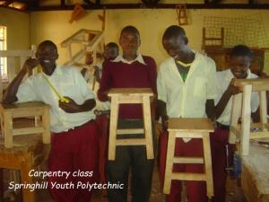Kwakakulu Youth Polytechnic  carpentry students (640x480)