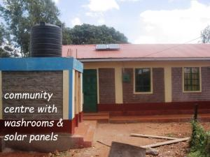 community centre with flush toilet  & solar power